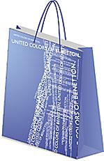 Пакет бумажный, 33х43х10 см, матовая ламинация Benetton