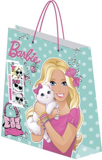 Пакет подарочный, 33 х 43 х 10 см, эффект: матовая ламинация, плотность бумаги 157 гр/м2 упак. 12/120/240 шт. Barbie