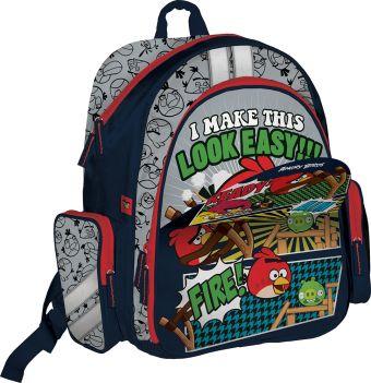 Рюкзак спортивный для путешествий. Магнитная пенель, меняющая дизайн рюкзака Размер 38 х 36 х 16 см Упак. 3//12 шт. Angry Birds