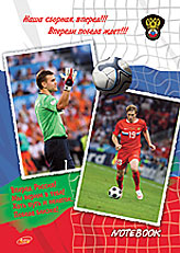 "Ноутб 80л 7БЦ А4, лам, , ""Футбол. Евро-2008. Павлюченко, Акинфеев"""