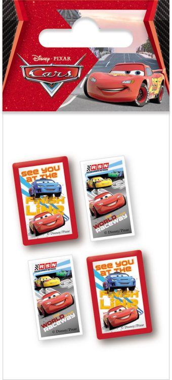 Набор канцелярский в пакете: точилка 2 шт., ластик фигурный 2 шт, размер 14 х 6 х 1,5 см, упак. 40/400 шт.Cars