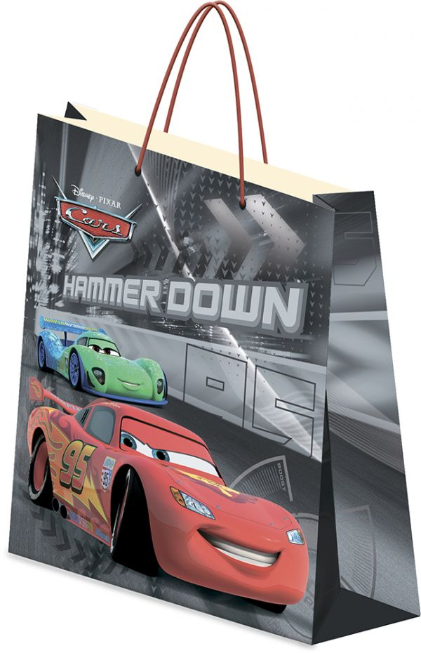 Пакет подарочный, 18 х 21 х 8,5 см, эффект: матовая ламинация, плотность бумаги 128 гр/м2 упак. 12/360/720 шт. Cars