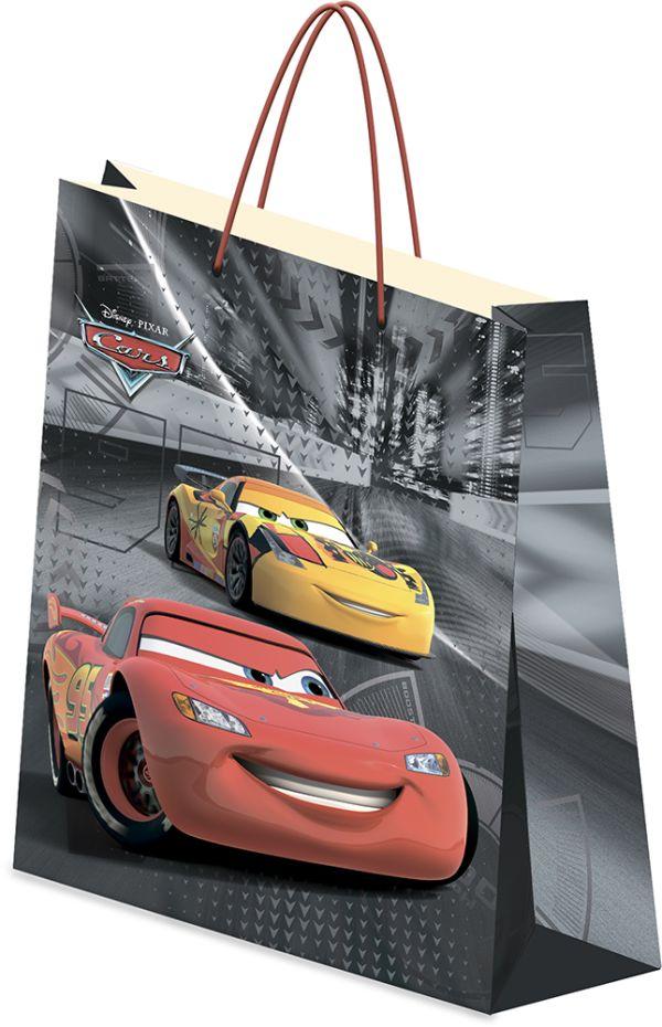 Пакет подарочный, 33 х 43 х 10 см, эффект: матовая ламинация, плотность бумаги 157 гр/м2 упак. 12/120/240 шт.Cars