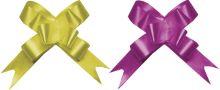 Бант-бабочка, 2 штуки в PP пакете с подвесом, размер 18 х 450 мм, цвета золотой, красный, эффект - металлизированное покрытие упак. 24/Regalissimi