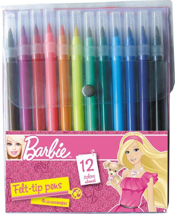Набор цветных фломастеров. Барби