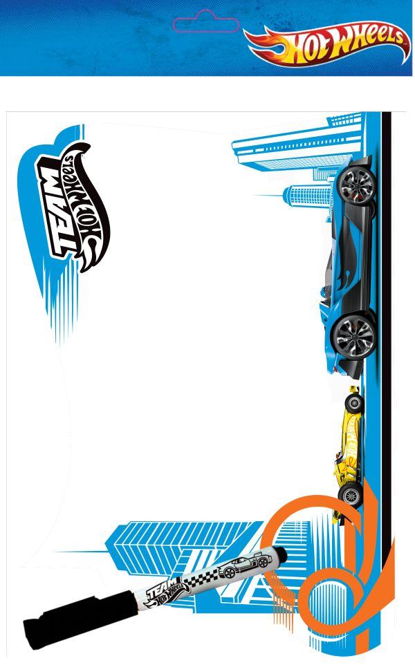 "Доска ""Пиши-стирай"" малая на магнитах для крепления на холодильник, маркер с магнитом. ПП пакет с подвесом. Размер 21 х 27 х 2,5 см, Hot Wheels (HotWh"