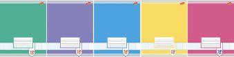 Тетр 18л скр А5 лин 7116/5-ЕАС Цветные фоны