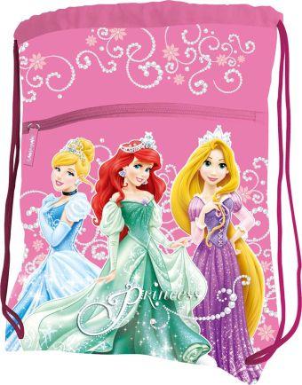 Сумка-рюкзак для обуви, с дополнительным карманом. Размер 43 х 34 см Упак. 12/24/96 шт. Princesses