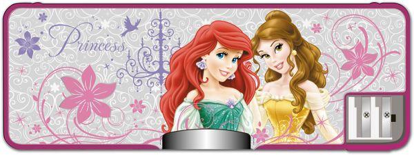 Пенал жесткий с точилками (пластик, PVC). Размер 8 х 23 х 2,5 см Упак. 6/48 шт. Princesses
