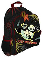 Рюкзак, мягкая спинка с вентиляционной сеткой 39х31х12 Kung Fu Panda