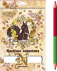 Карандаши 12шт/24 цв.Заточенные, европодвес Narnia