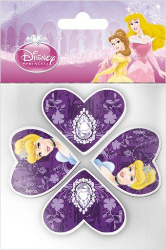 Набор канцелярский в пакете: точилка 2 шт., ластик фигурный 2 шт. Princess
