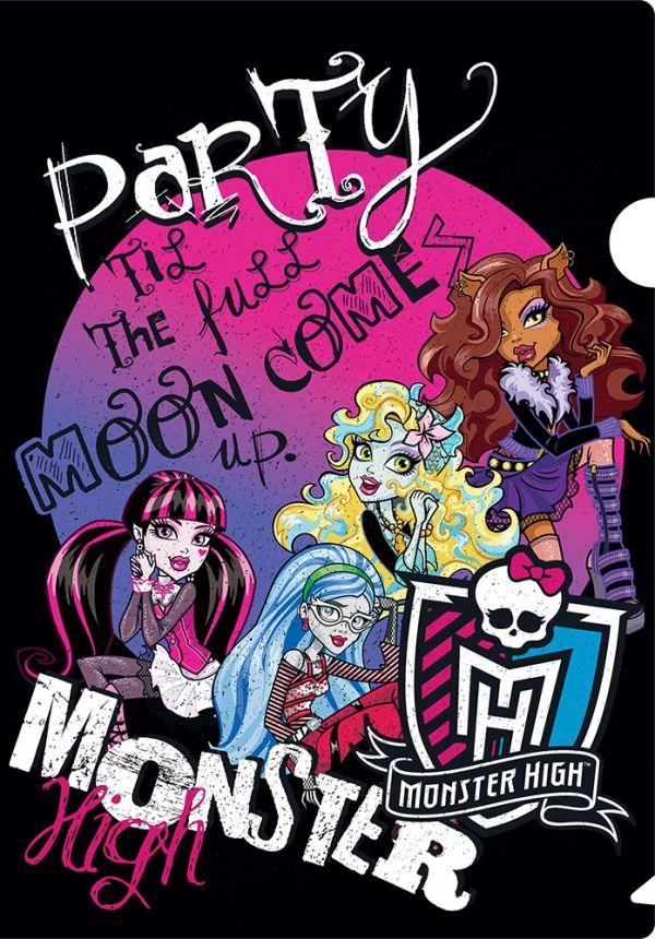 Пластиковая папка-уголок. Monster High