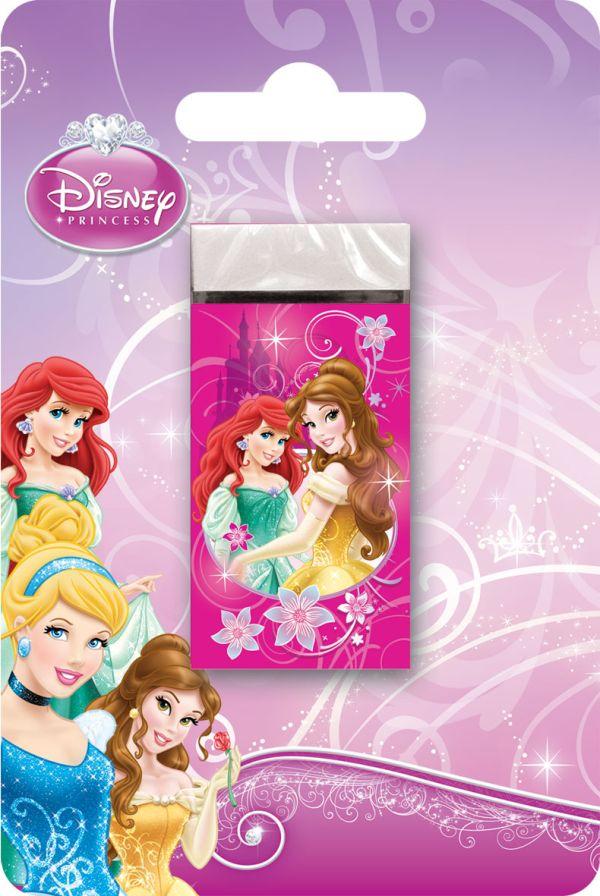 Ластик для графитовых и цветных карандашей, 1 шт. Высококачественный ластик Dust-free. Печать на бумажной обертке - полноцветная. Princess