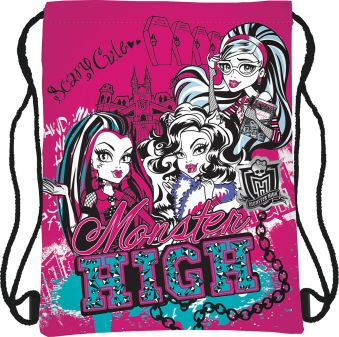 Сумка-рюкзак для обуви Размер 43 х 34 см Упак. 12/24/96 шт. Monster High