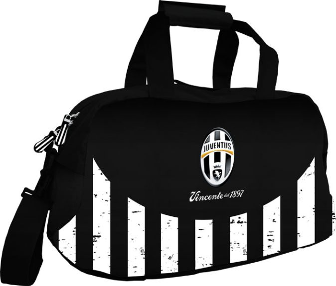 Сумка спортивная c боковым карманом и отделением д/мобильного телефона 26х50х15 см Juventus