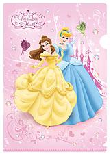 Пластиковая папка-уголок Принцессы