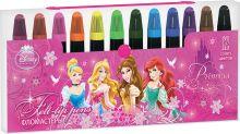 Набор цветных фломастеров. 12 шт. Размер одного фломастера - 9,2 х 1,3 см, (с колпачком). Колпачок - вентилируемый, в цвет наконечника,Princesses