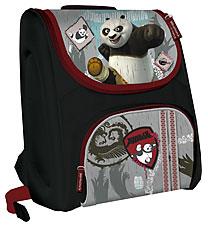 Рюкзак ортопедический, спинка - толстый поролон, ортопед. вставка, жесткие боковые стороны из EVA 38х31х20 см KungFu Panda