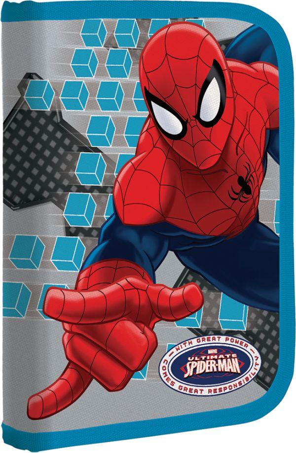 Пенал жесткий, с креплениями для канцелярских принадлежностей Размер 21 х 14 х 4 см Упак. 3//12 шт. Spider-man Classic