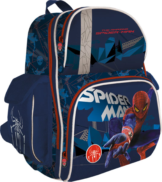 Рюкзак ортопедический, жесткая ортопедическая спинка из EVA, корпус усилен подложкой из EVA. Размер 37 х 30 х 16 см, Spider-man 4