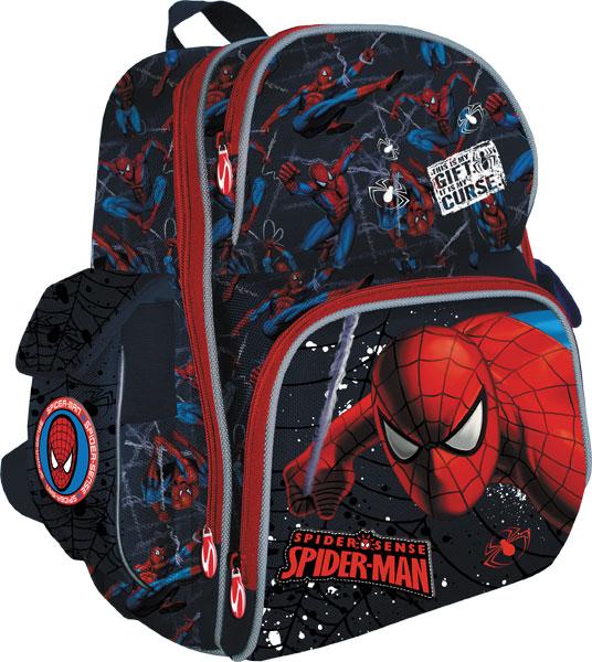 Рюкзак ортопедический, жесткая ортопедическая спинка из EVA, корпус усилен подложкой из EVA 37x30x16 см Spider-man