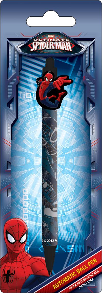 Ручка шариковая с фигурным клипом в блистере, размер 20 х 7 х 1,5 см, упак. 48/384 шт. Spider-man
