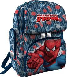 Рюкзак ортопедический, спинка - толстый поролон, усилена алюминиевой вставкой, корпус усилен подложкой из EVA 35х27х15 см Spider-man