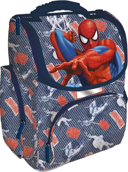 Рюкзак, спинка - толстый поролон, усиление пластиком, жесткие боковые стороны 33х25х13 см Spider-man