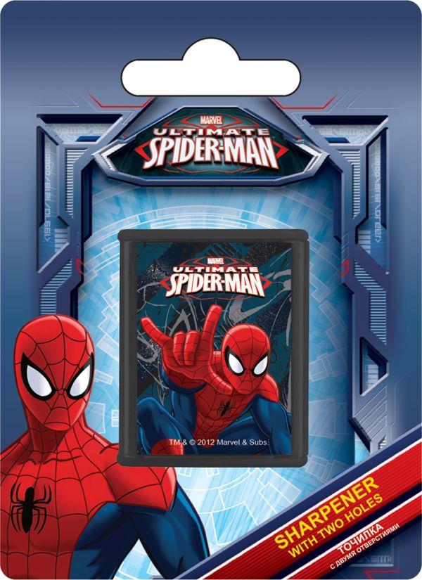 Точилка с двумя отверстиями, 1шт. Печать на корпусе - полноцветная. Упаковка - блистер, 500 г/м2, 4+1, европодвес. Размер 11х 8 х 2, Spider-man Classi