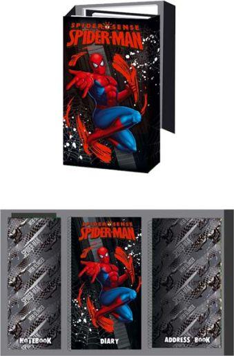 Органайзер склад.95х160  ноутбук, адресная книга, дневник (12,5 x 21,5 x 3) см Spider-man
