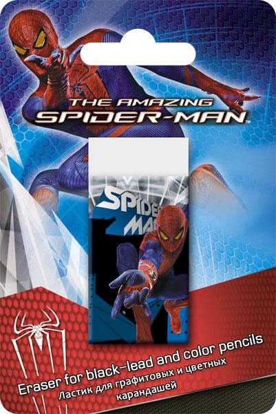 Ластик д/графитовых и цветных карандашей, 1 шт. Spider-man