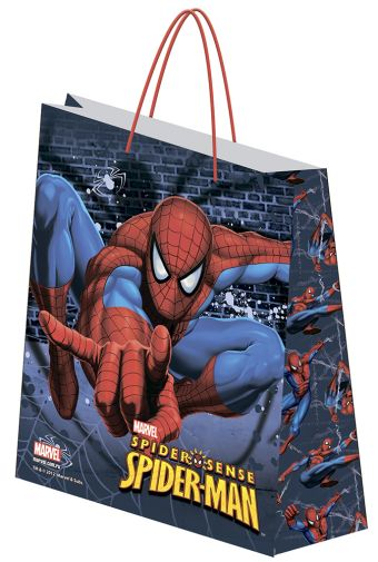 Пакет подарочный, 13,5 х 16 х 5 см, эффект: матовая ламинация, плотность бумаги 128 гр/м2 упак. 12/300/1200 шт. Spider-man