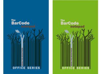 """Бл 50л Клей 105*148 кл 6503/2-VQ полн УФ """"Штрих-код: деревья, синий/зеленый"""""""