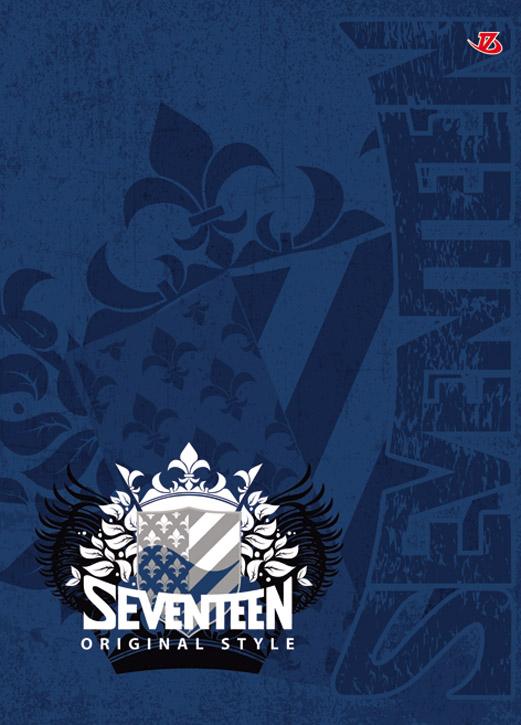 Ноутб 80л Интегр А5+(142*200) 6468-VQ мат лам, выб УФ, фольга, резинка Seventeen: герб SEV