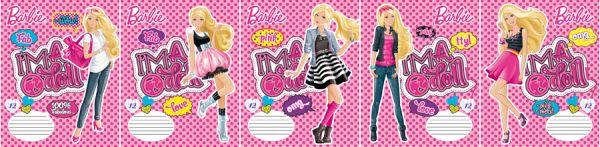 Тетр 12л скр А5 кл карт B672/5-g-VQ глит Barbie