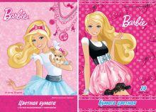 Бум цв д/дет тв 20цв 20л(5мет,5флю) Папка 200*290 B692,B693-VQ Barbie