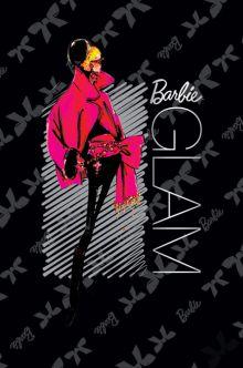 Ноутб 80л 7БЦ А5(128*200) B711-VQ мат лам, выб УФ, фольга, резинка Barbie