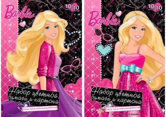 Бум и карт цв д/дет тв 10цв 20л(4мет) Папка 200*290 B748,B749-VQ Barbie