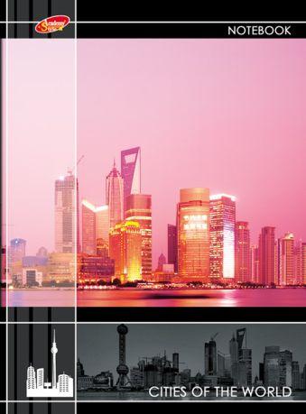 Ноутб 80л 7БЦ А6(100*140) 6428-EAC глянц лам Города мира