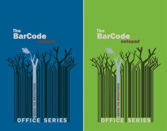 """Бл 50л Клей 148*210 кл 6499/2-EAC полн УФ """"Штрих-код: деревья, синий/зеленый"""""""