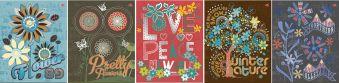 Тетр 60л скр А5 кл 6653/5-EAC выб УФ, тисн фольг Прекрасные цветы (с доп лист) SEV FSC Mix Credit
