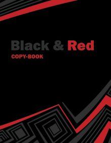 Папка-тетр 7БЦ кольц мех со смен блок 2*50л А5 кл 6715-EAC Black&Red