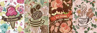 Записная книжка 16л кл А6 скр 6719/4-EAC ВД лак Кофе, Мороженое