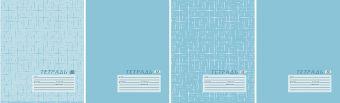 Тетр 12л скр А5 узк лин бум тисн 6765/4-EAC Текстура бирюзовая