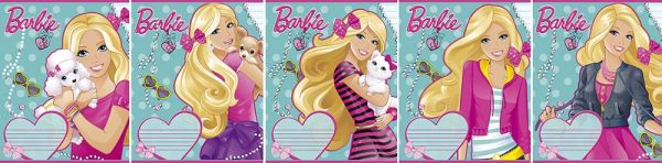 Тетр 12л скр А5 лин карт B723/5-g-EAC полн УФ Barbie