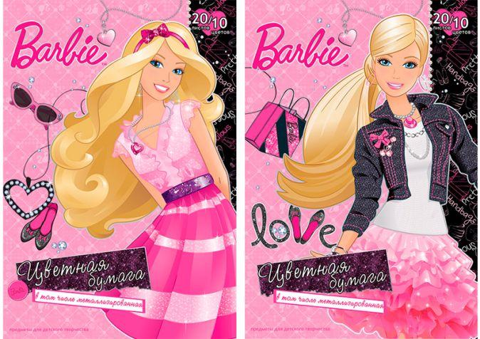 Бум цв д/дет тв 10цв 20л(4 мет) Папка 200*290 B753,B754-EAC Barbie