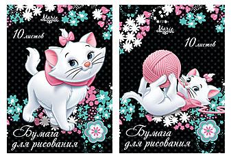 Бум д/рисов 10л Папка А4 D2889,D2890-EAC Marie Cat
