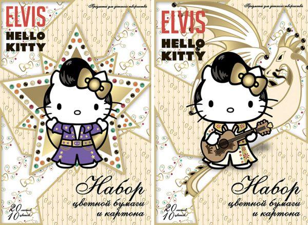Бум и карт цв д/дет тв 10цв 20л(4мет) Папка 200*290 HK27,HK28-EAC Hello Kitty