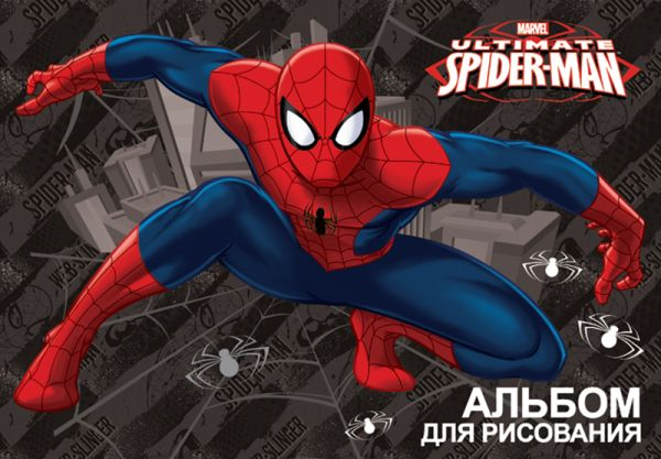 Альб д.рис 20л скр А4 SM239-EAC выб УФ, тисн фольг Spider-man